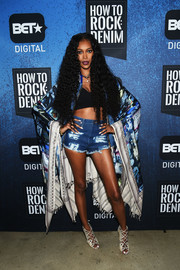 Jessica White displayed her endless pins in a pair of tiny jean shorts while attending the BET How to Rock: Denim event.