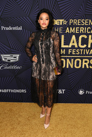 Kiersey Clemons made a sultry choice with this sheer lace dress by Philosophy di Lorenzo Serafini for the American Black Film Festival Honors.