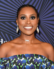 Issa Rae styled her hair into a cornrow updo for the American Black Film Festival Honors.
