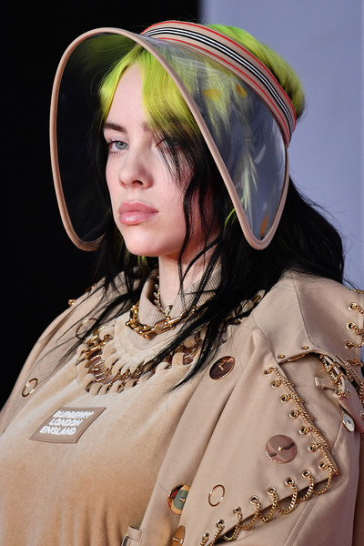 More Pics of Billie Eilish Gold Chain (3 of 46) - Gold Necklaces Lookbook - StyleBistro [lady,headgear,hat,costume,fashion accessory,red carpet arrivals,billie eilish,brit awards,hat detail,england,london,the o2 arena,the brit awards 2020,hat]