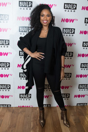 Jennifer Hudson donned a pair of ripped skinny jeans for her visit to Build.
