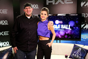 Selena Gomez flaunted some flat abs in a purple crop-top while backstage at Jingle Ball.