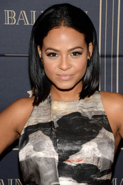 Christina Milian kept it simple with this center-parted lob at the Balmain x H&M Los Angeles pre-launch.