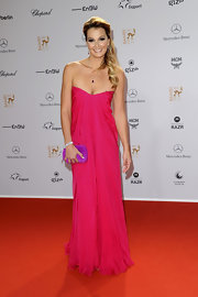Franziska Van Almsick was a glamorous vision to behold at the 2011 Bambi Awards in this bright pink strapless gown.
