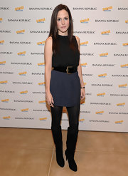 Mary-Louise Parker showed off her feminine flair in a mini skirt at an event in New York.
