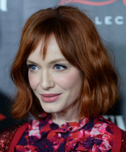 Christina Hendricks looked gorgeous, as always, with this short wavy 'do at the Banana Republic L'Wren Scott collection launch.