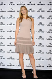 Super model Bar Refaeli showed off her nearly nude dress while at the 'Lexus' party in Madrid.
