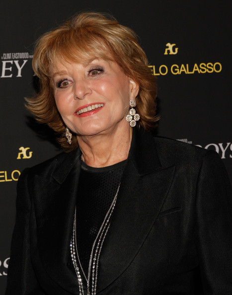 Barbara Walters Layered Razor Cut [jersey boys,hair,hairstyle,chin,blond,premiere,smile,layered hair,barbara walters,dinner,new york city,angelo galasso house,special screening dinner,new york special screening]
