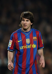 Lionel Messi is known for his signature long hair.