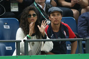 Camila Alves was spotted at the 2016 Olympics wearing a pair of round shades.