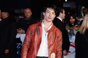Ezra Miller arrives for the European Premiere of 'Batman V Superman: Dawn Of Justice' at Odeon Leicester Square on March 22, 2016 in London, England.