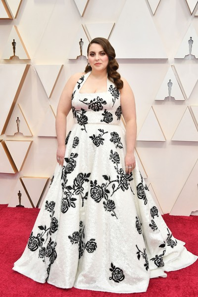 Beanie Feldstein Halter Dress
