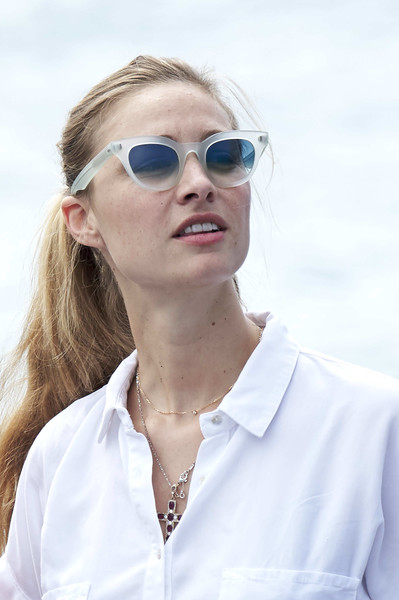 Beatrice Borromeo Ponytail [copa del rey,beatrice borromeo,eyewear,sunglasses,white,hair,glasses,face,beauty,vision care,skin,cool,mapfre sailing cup,copa del rey mafre sailing cup,palma de mallorca,spain]
