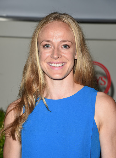 Becky Sauerbrunn Long Wavy Cut [hair,blond,face,hairstyle,eyebrow,shoulder,long hair,chin,brown hair,smile,becky sauerbrunn,body,hollywood,california,espn,espys pre-party - arrivals,espys,milk studios]