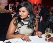 Mindy Kaling kept it fun with a two-tone mani at Beefsteak 2013.
