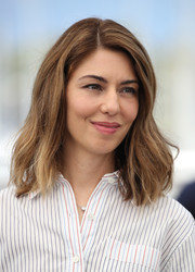 Sofia Coppola styled her hair with barely there waves for the Cannes Film Festival photocall for 'The Beguiled.'