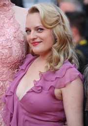 Elisabeth Moss styled her hair with retro waves for the Cannes Film Festival screening of 'The Beguiled.'