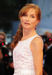 Isabelle Huppert pulled her wavy hair back in a ponytail for the 'Bella Addormentata' premiere.