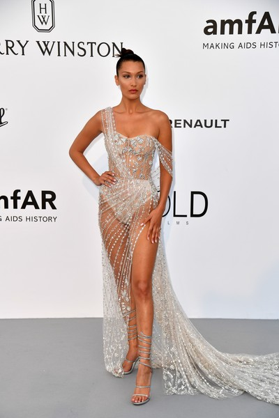 Bella Hadid Sheer Dress