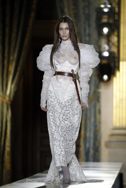 Bella Hadid Evening Pumps [image,fashion model,fashion,clothing,runway,haute couture,dress,fashion show,gown,lady,wedding dress,bella hadid,model,nudity,part,runway,us,paris,vivienne westwood,vivienne westwood : runway - paris fashion week womenswear fall,wedding dress,runway,fashion,fashion show,haute couture,supermodel,model,gown,wedding,socialite]