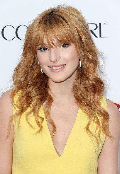 Bella Thorne Long Wavy Cut with Bangs
