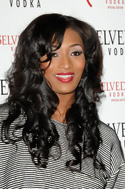 Toccara Jones wore her lovely long curls down at a vodka launch party.