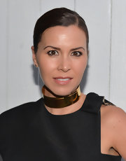 Monique Lhuillier wore her hair in a sleek side-parted ponytail during Benjamin Millepied's Dance Project benefit gala.