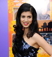 Tena Desae wore her long raven hair in a tumble of curls to a movie premiere in New York City.