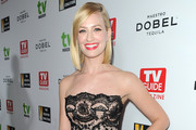 Beth Behrs Strapless Dress