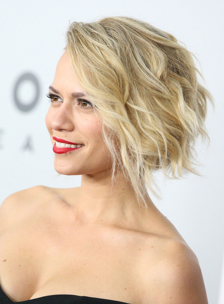 Bethany Joy Lenz Curled Out Bob [hair,face,blond,hairstyle,shoulder,chin,skin,lip,beauty,eyebrow,bethany joy lenz,beverly hills,california,the beverly hilton hotel,golden globes,nbcuniversal,party,arrivals]