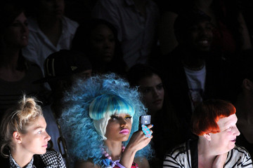 Lynn Yaeger Nicki Minaj Betsey Johnson - Front Row - Spring 2012 Mercedes-Benz Fashion Week