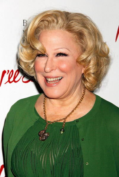 Bette Midler Curled Out Bob [hair,blond,hairstyle,face,chin,eyebrow,layered hair,long hair,smile,feathered hair,ill eat you last: a chat with sue mengers,broadway,new york city,bette midler]