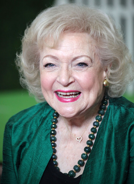 Betty White Curled Out Bob [betty white fashion shoot for the lifeline program,hair,face,facial expression,blond,eyebrow,hairstyle,smile,head,skin,chin,betty white,fashion shoot,coverage,the lifeline program,smashbox bigbox,culver city,california]