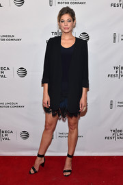 Analeigh Tipton rocked an oversized black blazer at the Tribeca Film Fest premiere of 'Between Us.'