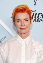 Sandy Powell sported a cool orange-dyed fauxhawk at the Beverly Center's Grand Reveal Weekend.