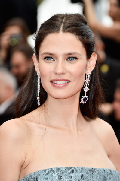 Bianca Balti Half Up Half Down [hair,face,eyebrow,hairstyle,beauty,skin,chin,lip,long hair,premiere,bianca balti,cannes,france,red carpet arrivals,cafe society,cafe society opening gala,cannes film festival,premiere,opening night gala,palais des festivals]