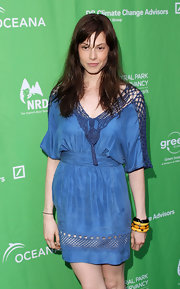 Elettra Wiedemann accessorized with a trio of yellow and black bangles when she attended the Bid to Save the Earth auction.