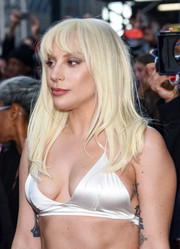 Lady Gaga wore her hair straight with wispy bangs at the Billboard Women in Music event.