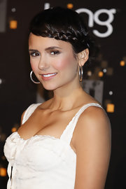 Nina Dobrev wore her hair in a sweet braided updo at the CW premiere party.