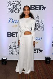 Misty Copeland matched her top with white palazzo pants, also by Cushnie et Ochs.