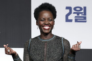 Lupita Nyong'o amped up the sparkle with a huge cocktail ring.