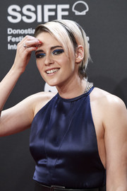 Kristen Stewart accessorized with a silver wide-band ring at the San Sebastian Film Festival premiere of 'Blackbird.'