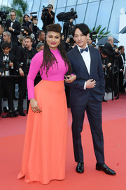 Ava DuVernay looked vibrant in a color-block gown by Greta Constantine at the Cannes Film Festival screening of 'BlacKkKlansman.'