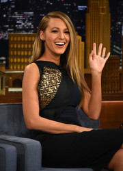 Blake opted for modest stud earrings when she appeared on the Jimmy Fallon show.