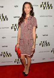A red tweed dress gave Olivia Chantecaille a super chic and classic look on the red carpet.