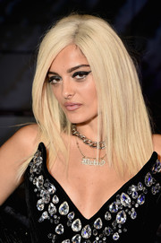 Bebe Rexha looked oh-so-cool with her layered cut at the Blonds fashion show.