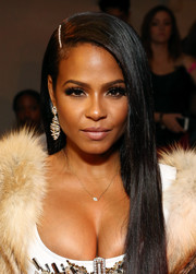 Christina Milian was elegantly coiffed with this long straight 'do at the Blonds fashion show.