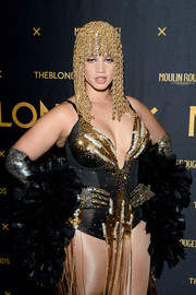 Dascha Polanco channeled her inner Vegas showgirl in a beaded and fringed bodysuit at the Blonds x Moulin Rouge! The Musical show.