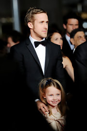 Ryan Gosling wore a prim and proper classic black bowtie at the premiere of 'Blue Valentine.'