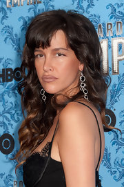 Paz de la Huerta sported blunt bangs and cascading curls at the 'Boardwalk Empire' season 2 premiere.